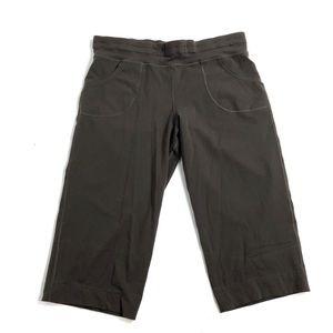 Lululemon pants leggings brown crop brown yoga